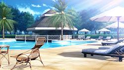 anime scenery background landscape outdoor backgrounds hotel novel beach episode visual fantasy cartoon animation castle backyard animes landscapes fondo digital